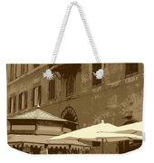 Sunny Italian Cafe - Sepia Weekender Tote Bag by Carol Groenen