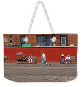 Sunny Morning On A Boardwalk In Brighton Beach  Weekender Tote Bag