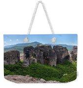 Sunny Panorama Of Greek Meteora Weekender Tote Bag
