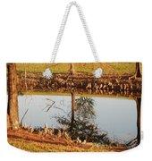 Sunny Pond Weekender Tote Bag