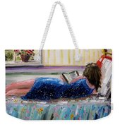 Sunny Reading Weekender Tote Bag