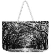 Sunny Southern Day - Black And White With Black Border Weekender Tote Bag