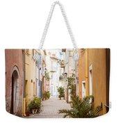Sunny Street In Villefranche-sur-mer Weekender Tote Bag