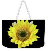 Sunny Sunflower Black Yellow Weekender Tote Bag