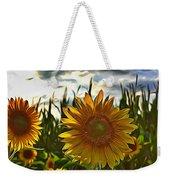 Sunny Sunflower Weekender Tote Bag