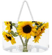 Sunny Vase Of Sunflowers Weekender Tote Bag