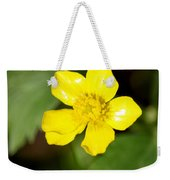 Sunny Yellow Cinquefoil Weekender Tote Bag