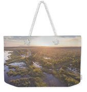 Sunraise Morning Summer Time Lake And Green Forest, In Poland  Weekender Tote Bag