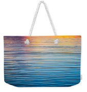 Sunrise Abstract On Calm Waters Weekender Tote Bag