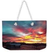 Sunrise And Horse Barn Weekender Tote Bag