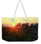 Sunrise And The Lifeguard Chairs  Weekender Tote Bag