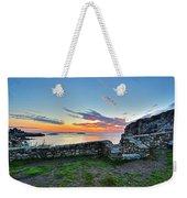 Sunrise At Castle Rock Marblehead Ma Rocky Coast Weekender Tote Bag