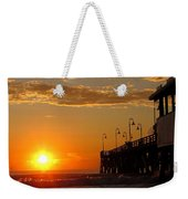 Sunrise At Daytona Beach Pier  004 Weekender Tote Bag
