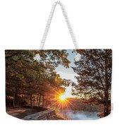 Sunrise At Great Bend Weekender Tote Bag