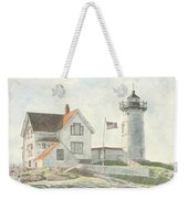 Sunrise At Nubble Light Weekender Tote Bag by Dominic White