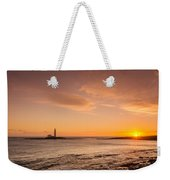 Sunrise At St Mary's Lighthouse Weekender Tote Bag