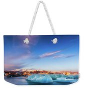 Sunrise At The Iceberg Lagoon Weekender Tote Bag