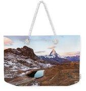 Sunrise At The Matterhorn Mountain Area Weekender Tote Bag