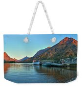 Sunrise At The Two Medicine Dock Weekender Tote Bag