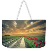 Sunrise At Tulip Filed After A Storm Weekender Tote Bag