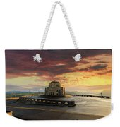 Sunrise At Vista House On Crown Point Weekender Tote Bag
