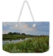 Sunrise Clouds Above Glacial Park's Nippersink Creek Weekender Tote Bag