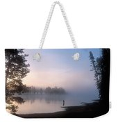 Sunrise Fishing In The Yellowstone River Weekender Tote Bag