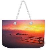 Sunrise Fog Weekender Tote Bag