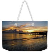 Sunrise Fort Clinch Pier Weekender Tote Bag