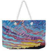 Sunrise Freezing Rain Deformation Zone Weekender Tote Bag by Phil Chadwick