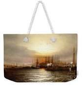 Sunrise From Chapman Dock And Old Brooklyn Navy Yard, East River, New York Weekender Tote Bag
