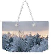Sunrise Glos Behind Trees Frozen Trees Weekender Tote Bag