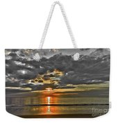 Sunrise-hdr-bw With A Touch Of Color Weekender Tote Bag