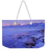 Sunrise Ice Reflection Weekender Tote Bag
