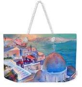 Sunrise In Oia Santorini Greece Weekender Tote Bag