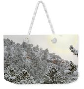 Sunrise In Snowstorm In The Pike National Forest Weekender Tote Bag