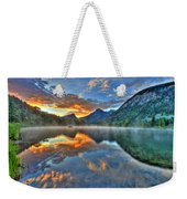 Sunrise Lake Weekender Tote Bag