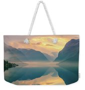 Sunrise Lovatnet, Norway Weekender Tote Bag