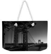 Sunrise On The Gwb, Nyc - Bw Landscape Weekender Tote Bag