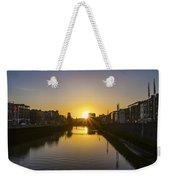 Sunrise On The Liffey River - Dublin Ireland Weekender Tote Bag