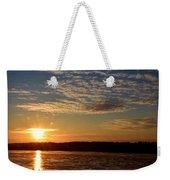 Sunrise On The Mississippi Weekender Tote Bag