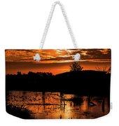 Sunrise Over A Pond Weekender Tote Bag