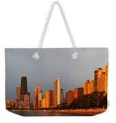 Sunrise Over Chicago Weekender Tote Bag