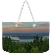 Sunrise Over City Of Vancouver Bc Canada Weekender Tote Bag
