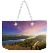 Sunrise Over Columbia River Gorge Weekender Tote Bag