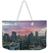 Sunrise Over Downtown Vancouver Bc Weekender Tote Bag