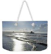 Sunrise Over Folly Beach Pier Weekender Tote Bag