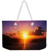 Sunrise Over Ocean, Sandy Beach Park Weekender Tote Bag