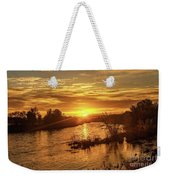 Sunrise Over  Payette River Weekender Tote Bag
