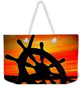 Sunrise Over The Captain's Wheel 2 Weekender Tote Bag
